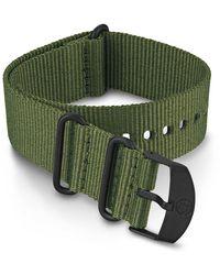 Timex Watch 22mm Fabric Slip-thru Double Layer Strap Green