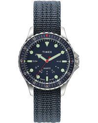 Timex Navi Depth 38mm Fabric Strap Watch Black - Multicolor
