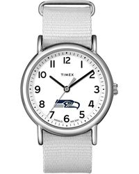 Timex - Watch Weekender Seattle Seahawks Silver-tone/white - Lyst