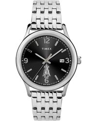 Timex Watch Sage Angels Silver-tone/stainless Steel/black - Metallic