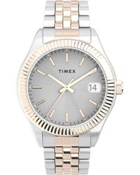 Timex Watch Waterbury Legacy 34mm Stainless Steel Bracelet Silver-tone - Metallic