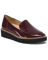 Tj Maxx Patent Leather Lug Sole Slip On Loafers - Purple