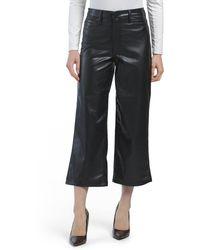 Tj Maxx Juniors Faux Leather Wide Leg Pants - Black