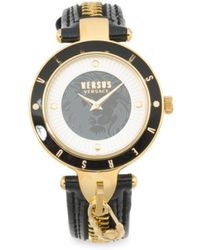 Tj Maxx - Women's Key Biscayne Ii Leather Strap Zipper Watch - Lyst