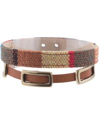 Tj Maxx - Leather Wrap Bracelet With Coordinating Bracelet - Lyst