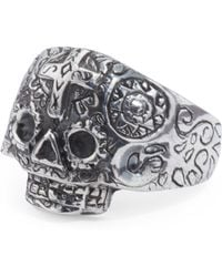 Tj Maxx - Handcrafted In Mexico Sterling Silver Day Of The Dead Ring - Lyst