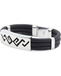 Tj Maxx - Handcrafted In Mexico Sterling Silver Cut Out Rubber Bracelet - Lyst