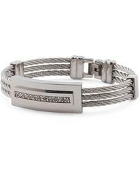 Tj Maxx - Men's Cubic Zirconia Accent Cable Bracelet - Lyst