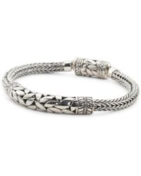 Tj Ma Handcrafted In Bali Sterling Silver Bar Bracelet Lyst