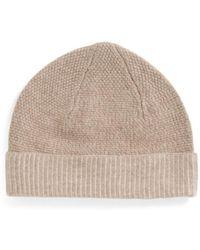 Tj Maxx - Moss Stitch Knit Cashmere Hat - Lyst