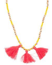 Tj Maxx - Made In Canada Preciosa Crystal And Cotton Tassel Necklace - Lyst