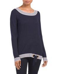 Tj Maxx | Long Sleeve Striped Sweater | Lyst