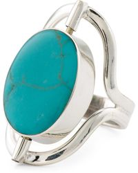 Tj Maxx Made In Mexico Reversible Sterling Silver Stone Ring - Blue