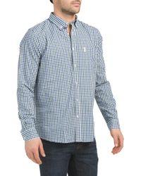a3e639d83 Tj Maxx - Long Sleeve House Gingham Shirt - Lyst