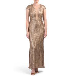 Tj Maxx - Illusion V-neck Sequin Gown - Lyst