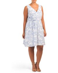 bef02103891 Lyst - Tj Maxx Seersucker Belted Dress in White