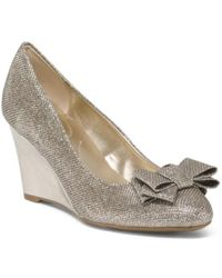 Tj Maxx - Round Toe Wedges With Bow - Lyst