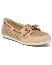 Tj Maxx - Leather Perforated Boat Shoes - Lyst