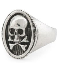 Tj Maxx - Men's Made In Italy Oxidized Sterling Silver Skull Ring - Lyst