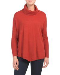 Tj Maxx - Yummy Yarn Cowl Neck Poncho Sweater - Lyst