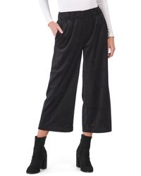 Tj Maxx Juniors Wide Leg Cropped Corduroy Pants - Black