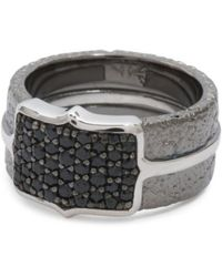 Tj Maxx - Men's Made In Uk Sterling Silver Black Sapphire Ring - Lyst