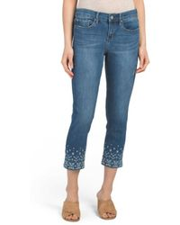 Tj Maxx - Embroidered Bottom Jeans - Lyst