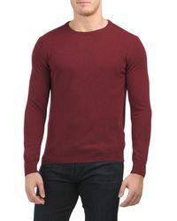 Tj Maxx Made It Italy Cashmere Crew Neck Sweater - Purple