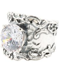 Tj Maxx - Made In Israel Sterling Silver Cz Ring - Lyst