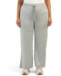 Tj Maxx Plus Athleisure Wide Leg Pants - Gray