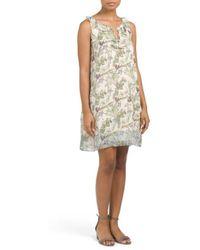 Tj Maxx - Printed Georgette Dress With Ruffles - Lyst