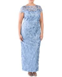 Tj Maxx - Plus Short Sleeve Embroidered Gown - Lyst