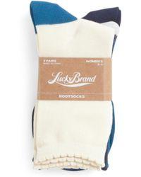 Tj Maxx - 3pk Basic Solids Combo Crew Socks - Lyst