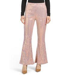 Tj Maxx Juniors Sequin Flare Pants - Pink