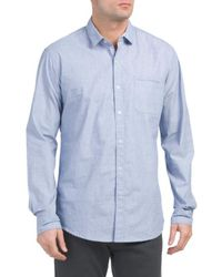 Tj Maxx - Long Sleeve Peached Finish Shirt - Lyst
