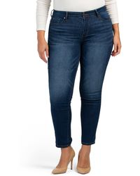Tj Maxx Plus High Waist Recycled Vintage Straight Leg Jeans - Blue