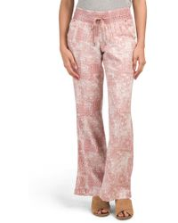 015be6c3b63121 Forever 21 Smocked Linen-blend Pants in Natural - Lyst