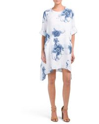 Tj Maxx - Made In Italy Linen Floral Print Dress - Lyst