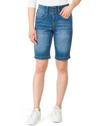 Tj Maxx 3 Button Bermuda Jean Shorts - Blue