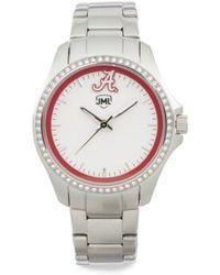 Tj Maxx - Women's Alabama Crimson Tide Glitz Bezel Bracelet Watch - Lyst
