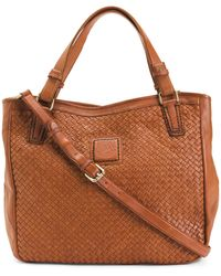 Tj Maxx - Made In Italy Woven Leather Tote - Lyst