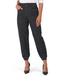 Tj Maxx High Waisted Elastic Cuff Jeans - Black