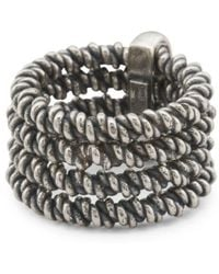 Tj Maxx - Made In Italy Sterling Silver Oxidized Braided 4 Strand Ring - Lyst