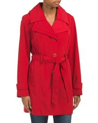 Tj Maxx - Double Collar Belted Spring Coat - Lyst
