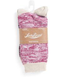 Tj Maxx - 2pk Slub Yarn Crew Boot Socks - Lyst
