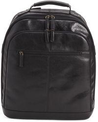 Tj Maxx Leather Backpack - Black