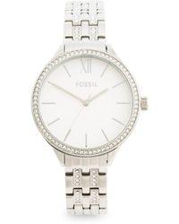 Tj Maxx Women's Suitor Crystal Accented Bracelet Watch - Metallic