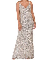 Tj Maxx Sequin Strappy Gown - Metallic
