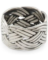 Tj Maxx - Men's Made In Mexico Sterling Silver Woven Ring - Lyst