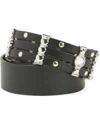Tj Maxx Made In Italy Rhinestone Studded Belt - Black